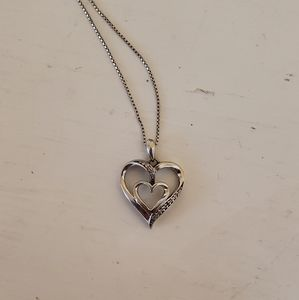 Jared Sterling Silver Heart Necklace